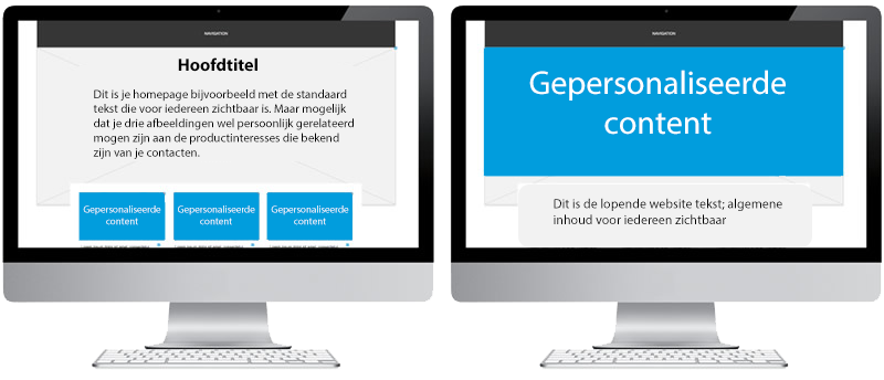 personaliseren website