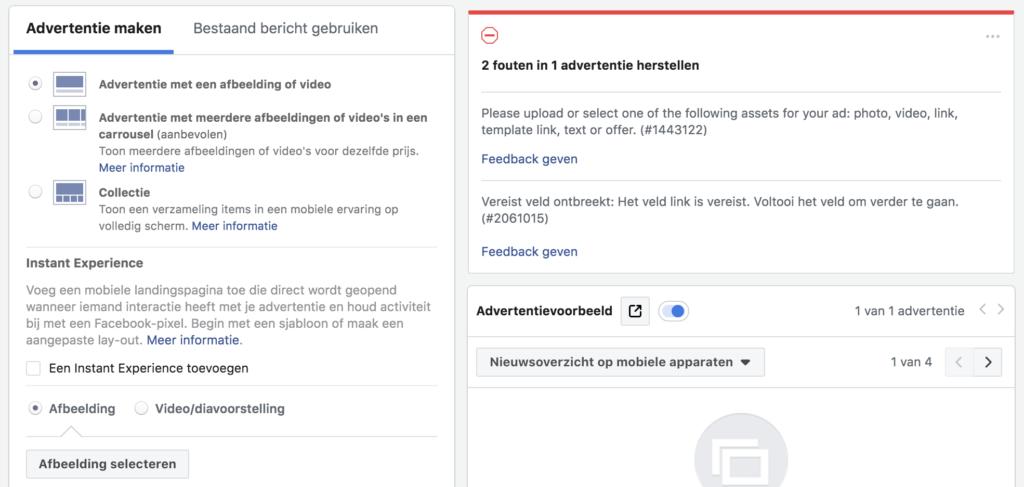 Facebook advertentie: vormgeving en opmaak van de advertentie