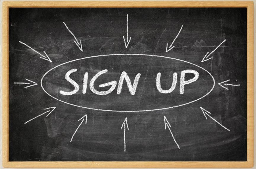 sign-up sign